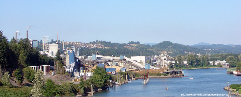 Photo of Camas Washington on the Columbia River