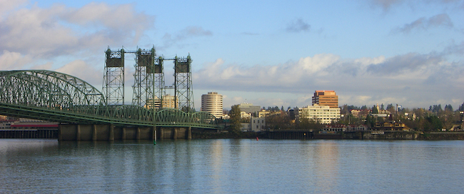 Photo of Vancouver Washington on the Columbia River