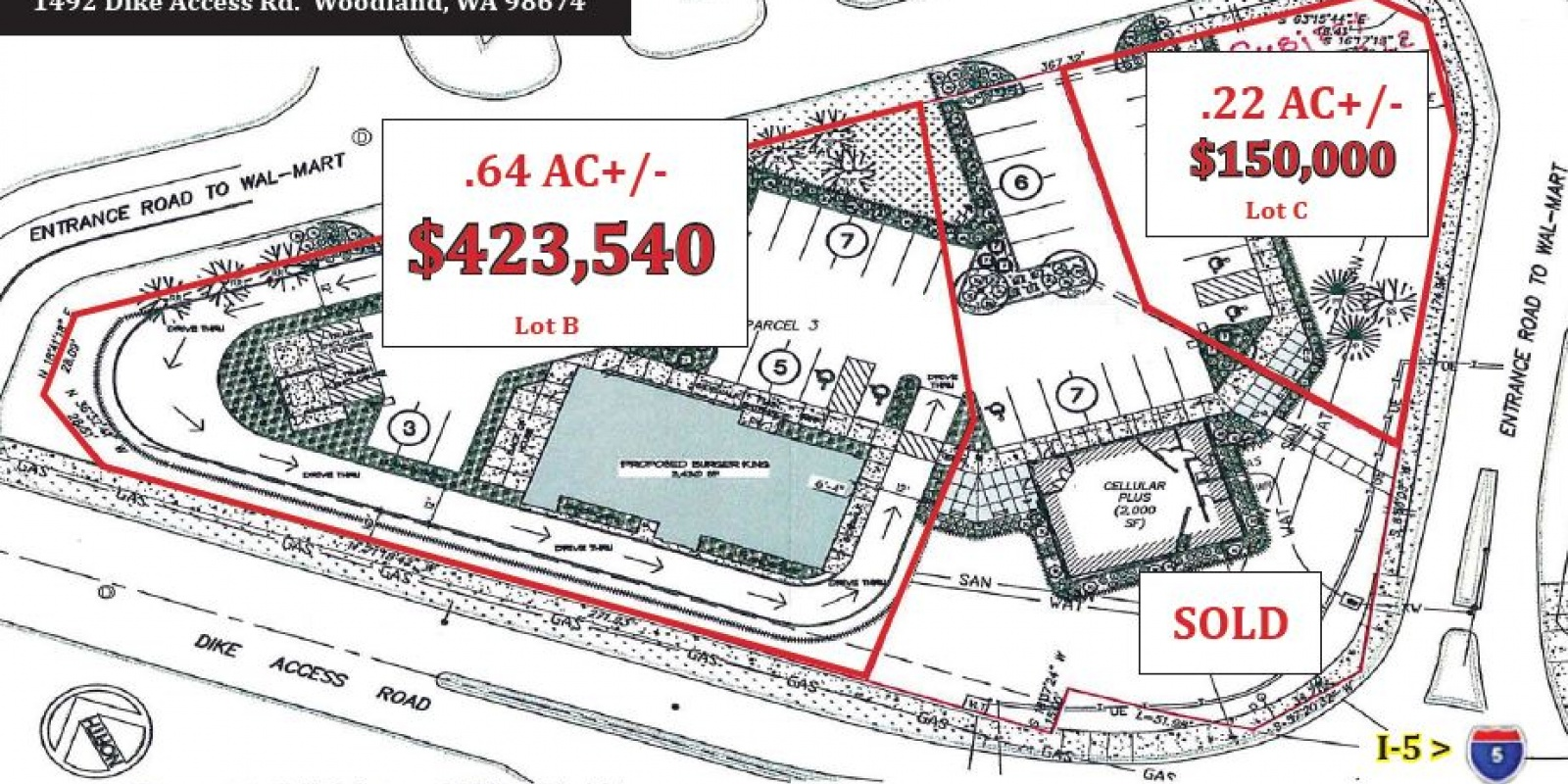 Hwy Commercial Parcel .64 AC