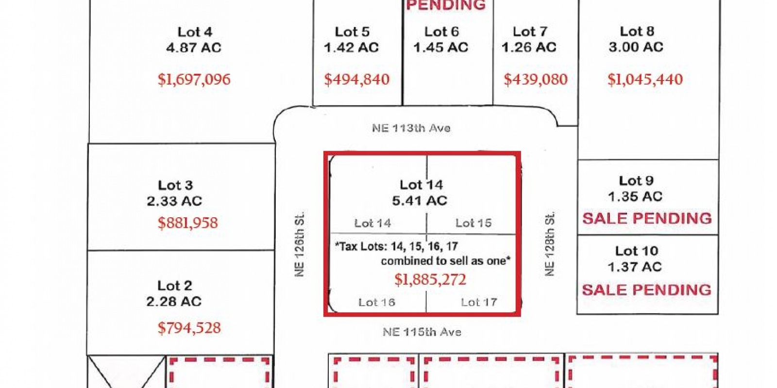 Hwy 503 at NE 125th St. Vancouver, WA 98662, ,Land,For Sale,GLENWOOD INDUSTRIAL PARK,Hwy 503 at NE 125th St. Vancouver, WA 98662,1327