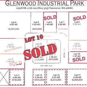 Glenwood Industrial Park Lot 10 SOLD