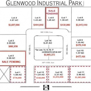 14 FOR SALE Lots Glenwood Ind. Park